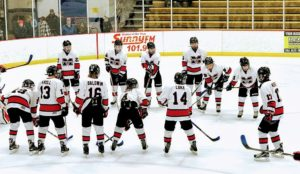 The Marquette Redmen Hockey team hosted the Houghton Gremlins.