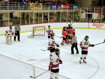 It was the Marquette Redmen vs the Houghton Gremlins in game three of the season.
