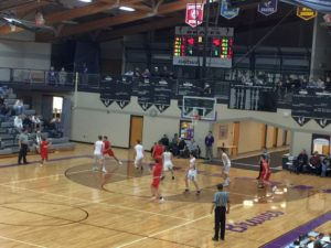 Gladstone tries to stop the Marquette Redmen during the game on December 11th, 2018 on 97.5 GTO-FM