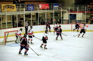 The Marquette Redmen killing a penalty against the Bay Reps in the second period on 97.5 GTO-FM