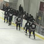 The boys had a great team spirit tonight giving each other handshakes as they skated by.
