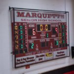 `The score at the end of the first quarter.