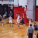 The Redettes had very good defense today including this block on basket.