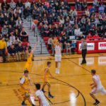 The Marquette Redmen take a shot to regain control of the game.