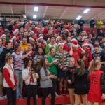 The Marquette Redmen student section got decked out in Christmas gear and cheered on their boys.