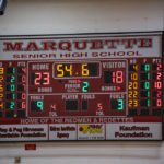 The Marquette Redmen held the lead all the way through the second quarter.