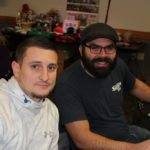 Luke Ghiardi and Eric Scott at the giveaway party.