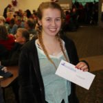 Courtney Knight from Marquette won tickets to see Gaelic Storm.