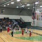 The The Redmen try to swat away the Hornets.Redmen vs the Green Bay Preble Hornets.