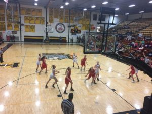 The Redettes' defensive and offensive games were strong this evening.