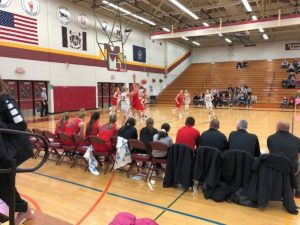 The Marquette Redettes make a break for the basket down in Menominee on Friday, January 25th, 2019 on 97.5 GTO-FM