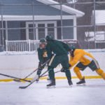 A rare chance to see the Northern Michigan University Wildcats Hockey team play outdoors.
