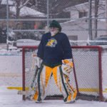 The yellow side's goalie.