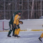 The NMU Hockey Team played for about an hour.