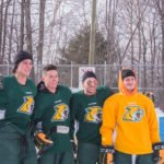 Everyone had a great time watching the NMU Hockey players.