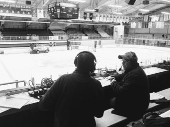 John and Joe are the voices of the Redmen Hockey games!