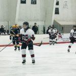 The Redmen take the ice.