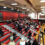 Fans file in for a Redettes-Braves showdown.