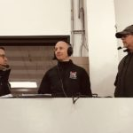 John and Joe interview the Redmen's coach after the game.