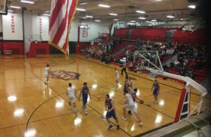 The Redmen and the Flivvers took to the court tonight.