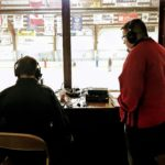 John and Joe keeping the Redmen fans updated on Fox Sports Marquette 105.1-99.9