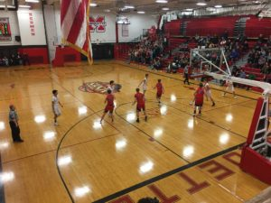 It was a Redmen victory tonight against the Westwood Patriots.