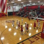 It was a thrilling first half as the Redmen and the Patriots started out neck and neck.