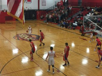 The Redmen took home their 10th victory tonight with a 47-39 win over the Westwood Patriots.
