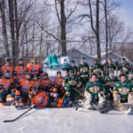 The Marquette Mutineers and NMU Wildcats at Lions Field Ice Rink in Marquette Township