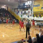 Negaunee does their best under the net against the tall Marquette Redmen