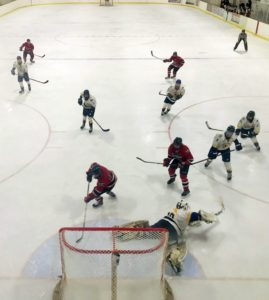 The Redmen just barely miss the net Tuesday on 103-FXD