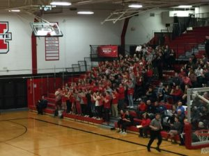 The Marquette Redmen's fans came alive in the second half