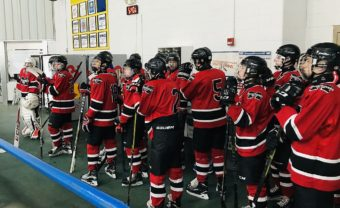 The Redmen are ready to take the ice.