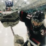 Up close and personal with Redmen goalie Tyler Bergwall.