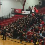 The student section for the Redmen