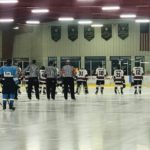 Lining- for the National Anthem