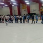 Shaking hands after the game