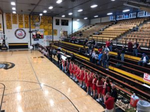 The Marquette Redettes (52) Encounter the Traverse City Central Trojans (32) in the MHSAA Girls Basketball District I Semifinals on Fox Sports Marquette 105.1 & 99.9FM