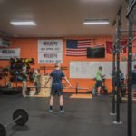 Starting warm ups for today's CrossFit Open workout at Blackfly CrossFit.