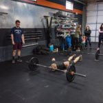 This workout is 12 minutes long and is a mix of snatches and burpees.