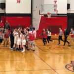 Fans rush the new District Champs!