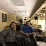 Dave Ellis and Mark Evans during The Sports Drive on Friday afternoon.