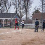MacKenzie Karki touches home plate