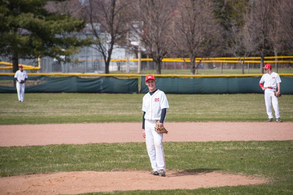 Marquette's Pitcher Blake Henricksen waits on the mound