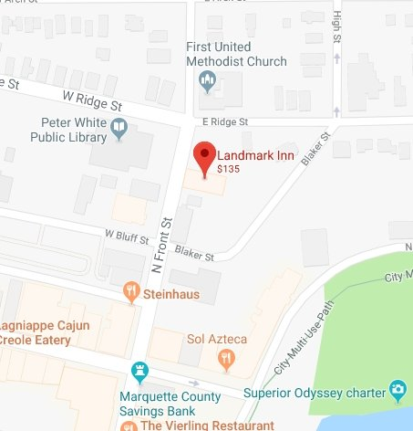 Find The Historic Landmark Inn with Google Maps