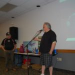 Walt Lindala giving away some door prizes.