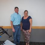 Mike from Four Season Small Engine and Rhonda Rosewall our Perfect Yard Giveaway Winner!