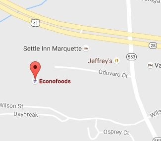 Find Econo Foods of Marquette with Google Maps