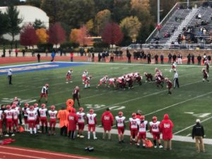 Marquette lines up on offense against Muskegon