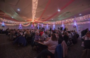 The banquet hall was decorated beautifully